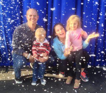 snow malibu winter family picture