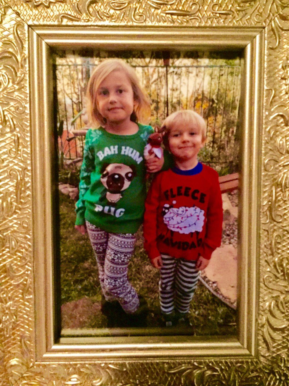 kids ugly santa sweaters cute smiles
